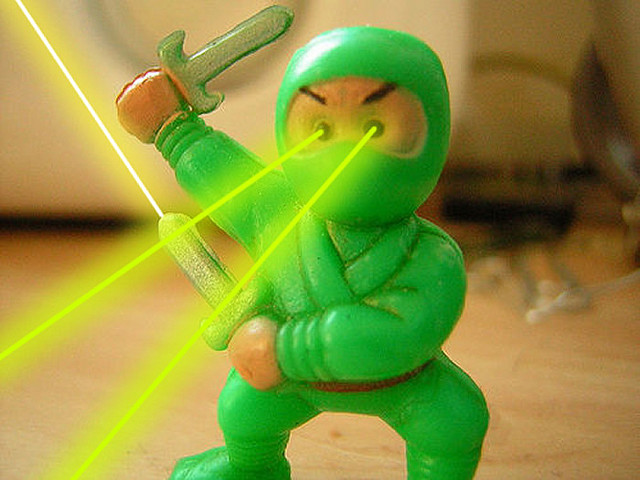 """When people ask me what I want to be when I grow up, I no longer say """"Laser Ninja."""""""